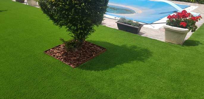 ideas de paisajismo de bajo mantenimiento en el patio trasero Csped Artificial Madrid Instalador De Csped Artificial